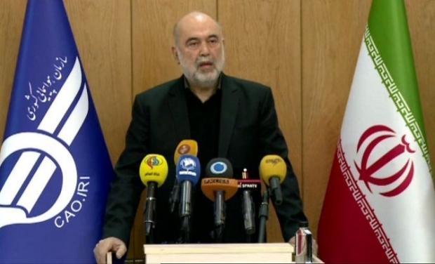 İran Sivil Havacılık Kurumu Başkanı Ali Abedzadeh....
