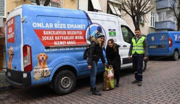 Bahçelievler Belediyesi, sokak hayvanlarına 25 ton mama dağıttı