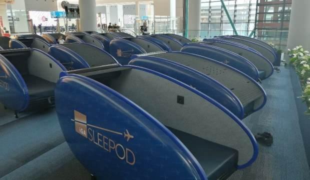 İstanbul Havalimanı'nda uyku kabini hizmeti başladı: Saatlik ücreti 9 avro