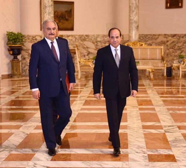 Sisi, darbeci Hafter'in en büyük destekçilerinden....