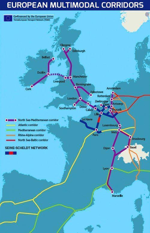Batı Avrupa'daki kanal projeleri