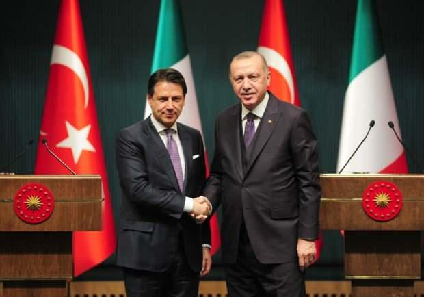 Cumhurbaşkanı Recep Tayyip Erdoğan ve İtalya Başbakanı Giuseppe Conte ortak basın toplantısı düzenledi.