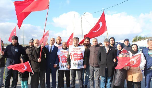 Kanal İstanbul için yola çıktılar