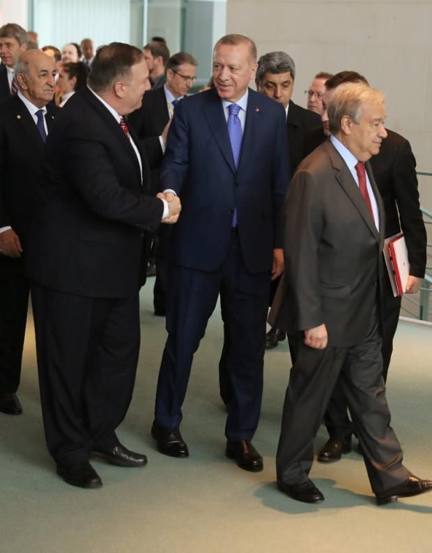 Cumhurbaşkanı Recep Tayyip Erdoğan ve ABD Dışişleri Bakanı Mike Pompeo