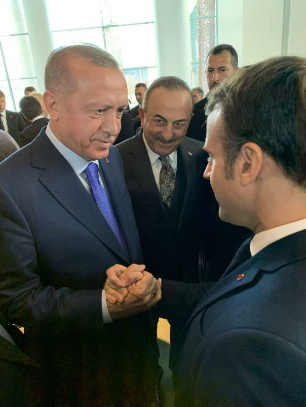 Cumhurbaşkanı Recep Tayyip Erdoğan ve Fransa Cumhurbaşkanı Emmanuel Macron ile görüştü