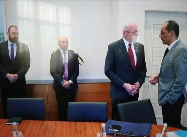 Cumhurbaşkanlığı Sözcüsü İbrahim Kalın ve ABD'nin Suriye Özel Temsilcisi James Jeffrey.