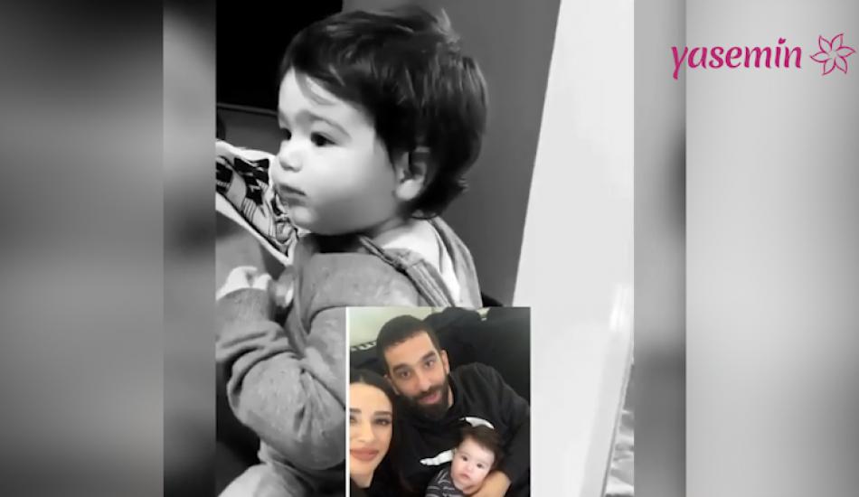 Arda Turan'ın oğlu Hamza'nın baba dediği anlar sosyal medyayı salladı!