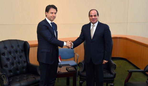 Conte ile Sisi Libya'yı görüştü