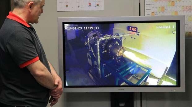Yerli Turbojet motorun testinden bir görüntü