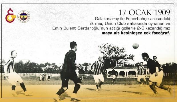 G.Saray F.Bahçe ile oynanan ilk derbiyi paylaştı! 111 yıl önce...