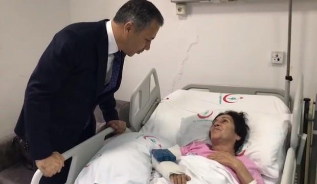 İstanbul Valisi Ali Yerlikaya, Leyla Çetinkol'u ziyaret etti