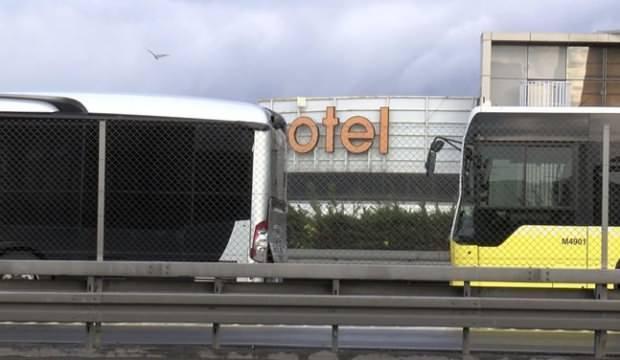 Okmeydanı'nda metrobüsler çarpıştı: Yaralılar var
