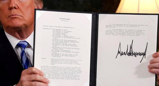 Trump'ın İran ile nükleer anlaşmadan çekilme kararı...