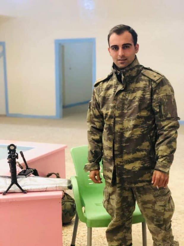 Tel abyad'da ki hain bombalı saldırıda şehit düşen Tokatlı Piyade Teğmen Sinan Bilir.