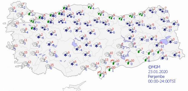 Son dakika - 23 Ocak Perşembe il il hava durumu - Güncel hava durumu