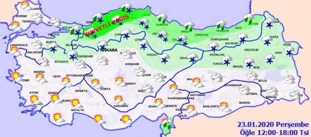 Son dakika - Meteoroloji 23 Ocak Perşembe günü il il hava durumu tahminini açıkladı - 22 Ocak Çarşamba hava durumu - Güncel hava durumu - Yarın hava nasıl olacak?
