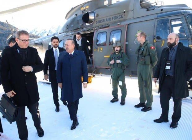 Dışişleri Bakanı Çavuşoğlu'da Davos zirvesine katılıyor.