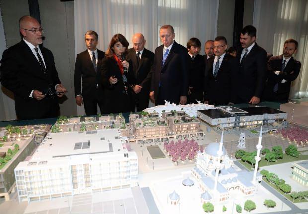 Cumhurbaşkanı Recep Tayyip Erdoğan, Beyoğlu'ndaki Galataport projesini yerinde inceledi.