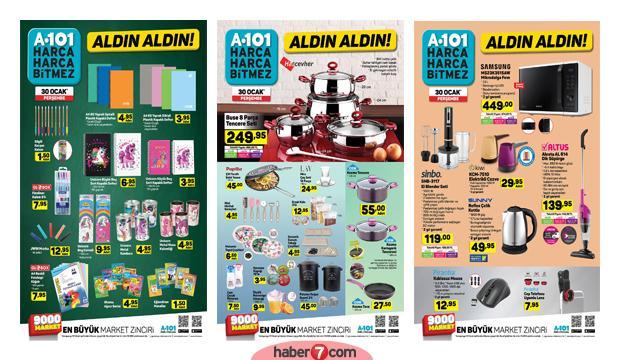 30 Ocak A101 aktüel kataloğu! Kırtasiye ve züccaciye ürünlerinde...
