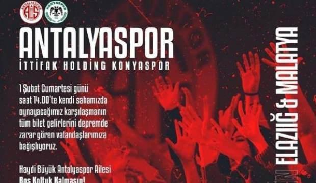 Antalyaspor, Konyaspor maçı gelirlerini bağışlayacak