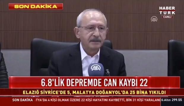 Kılıçdaroğlu'ndan tuhaf 'Elazığ depremi' açıklaması! İmamoğlu imasına tepki