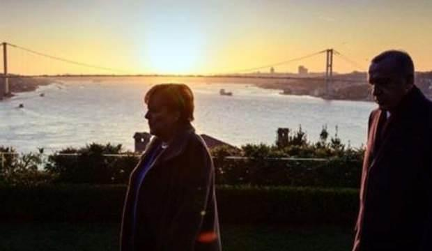 Merkel'den İstanbul paylaşımı!