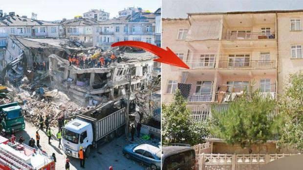 Dilek Apartmanı depremden sonra yerle bir oldu.