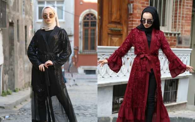 pullu abaya modelleri