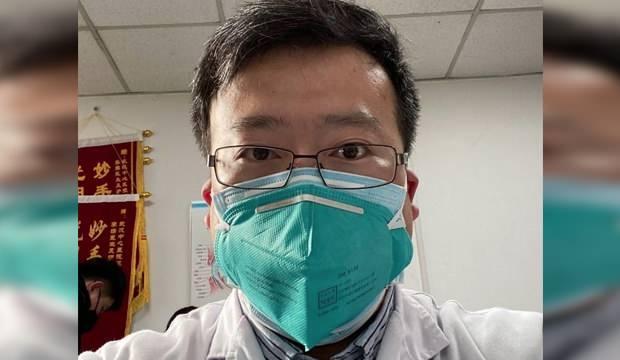 Gazeteye konuşan Dr. Li Wenliang....