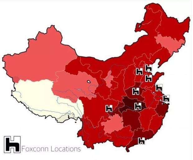 Foxconn dünyanın en büyük elektronik imalat hizmetleri sağlayıcısı ve Çin'in en büyük ihracatçılarından biri