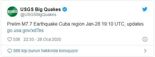 Son dakika | Küba 7,7 şiddetindeki deprem ile sarsıldı