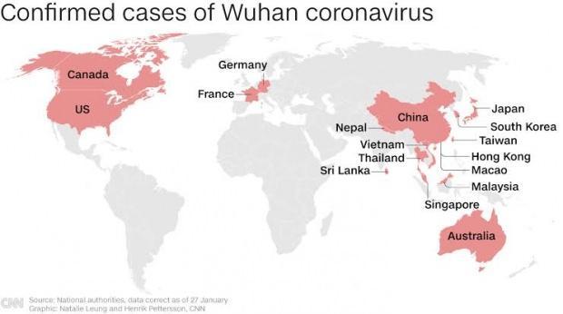 Virüsün görüldüğü ülkeler....