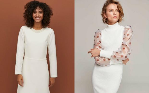 beyaz günlük elbise