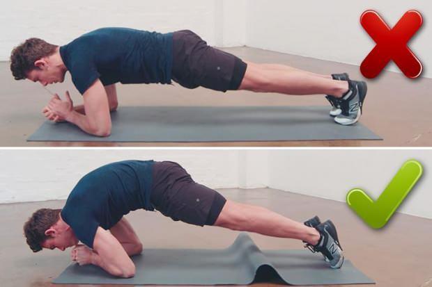 Plank duruş pozisyonu