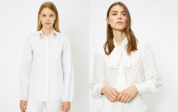 beyaz gömlek kombinleri tesettür