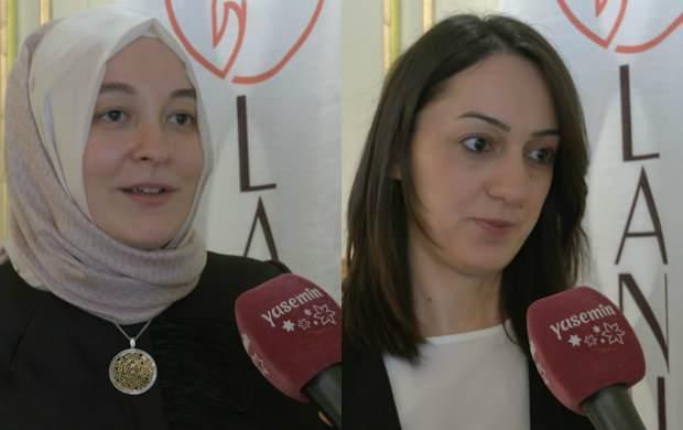 (SOL)  Lanjeron Marka Yöneticisi Ayşenur Çıbuk Şahin, (SAĞ)Modabutik.com yöneticisi Esra Söğüt