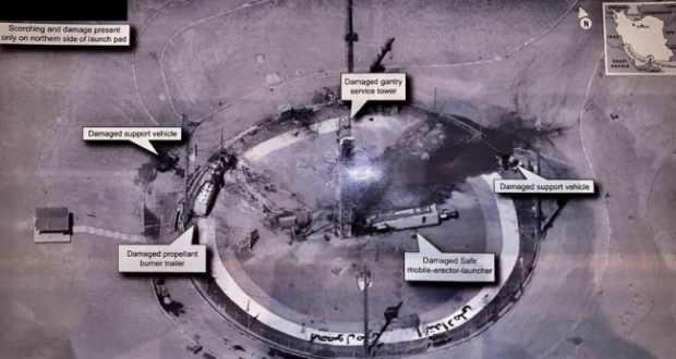 İran'a yapılan bir hava saldırısının ardından tesislerin durumu Twitter'da ortaya çıkmıştı.