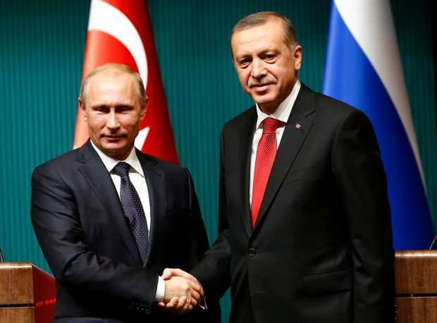 Cumhurbaşkanı Erdoğan ile Rusya Devlet Başkanı Putin.