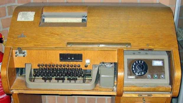 Siemens'in ürettiği T100 model teleks cihazı....