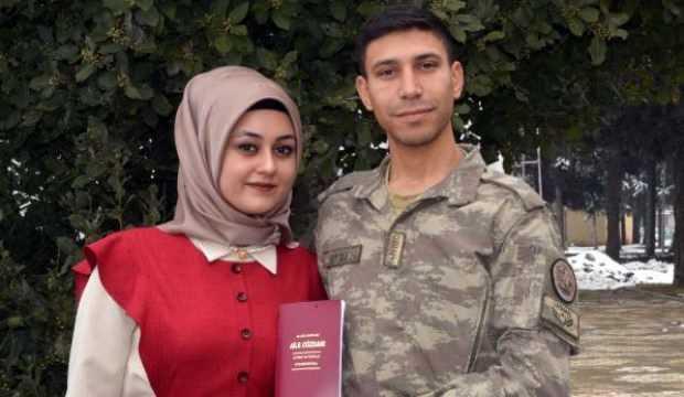 Barış Pınarı Harekatı'ndan izin alıp, 14 Şubat'ta nikah kıydı
