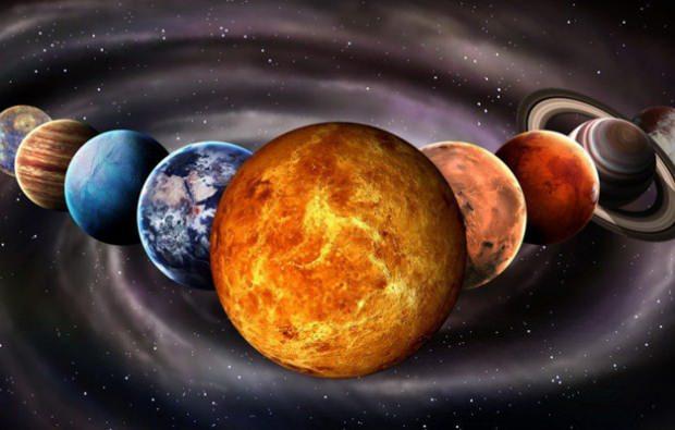 Venüs Güneşten bir gezegen uzaklıktadır