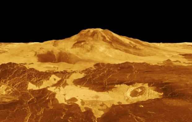 Görüntülenen Venüs gezegeni yüzeyi