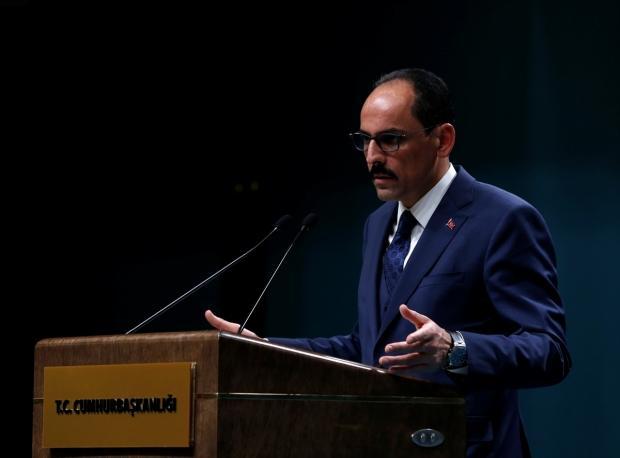 Cumhurbaşkanlığı Sözcüsü İbrahim Kalın, Cumhurbaşkanlığı Külliyesi'nde düzenlediği basın toplantısında açıklamalarda bulundu.