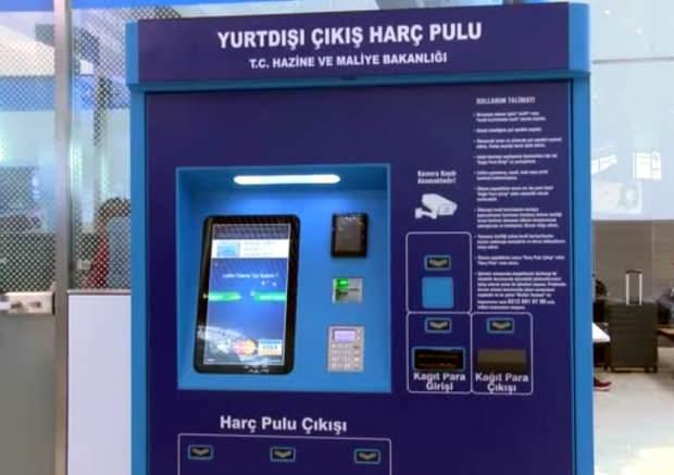 İstanbul Havalimanı pul alma otomatı.