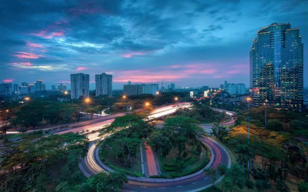 Endonezya şehir manzarası