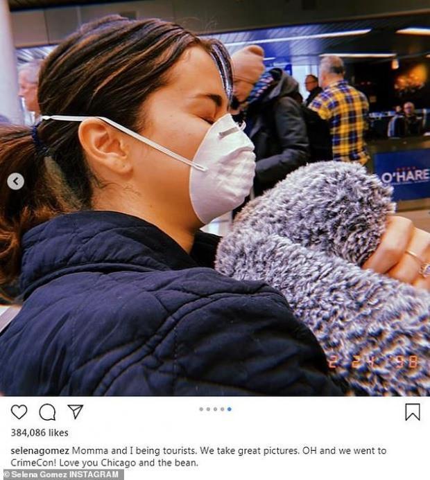 Selena Gomez maskeli paylaşımı