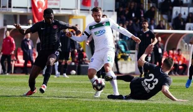 Bursaspor galibiyeti koruyamadı