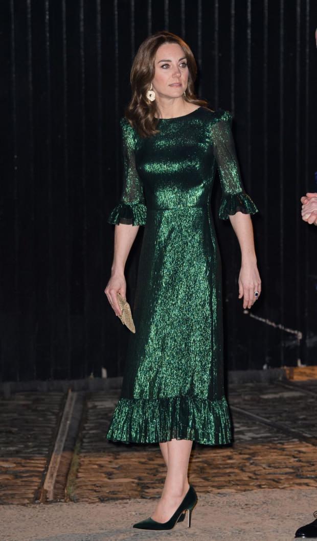 Kate Middleton'un yeşil kıyafetleri