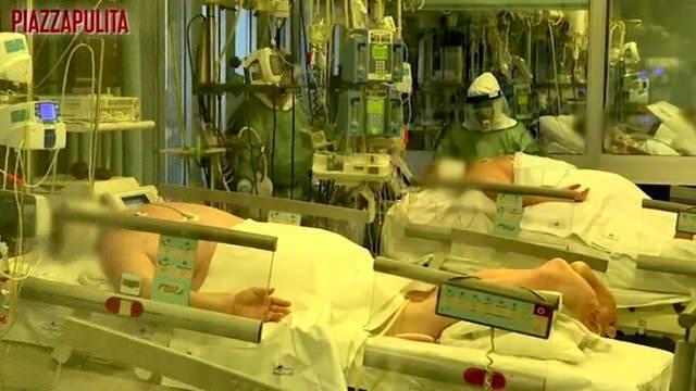 İtalya'daki bir hastaneden korkunç görüntüler...