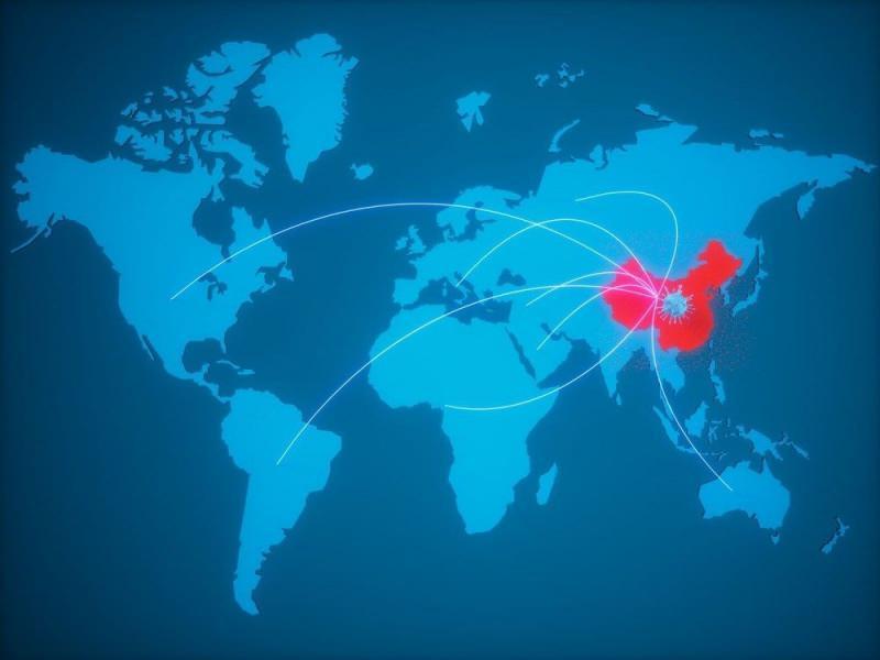 Virüs Çin'den dünyaya yayıldı...